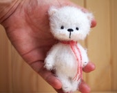 ooak 4 inches miniature Teddy bear, Blythe friend, artist teddy bears, crochet teddy bear, gift for her, ooak bear, miniature animals, toy.