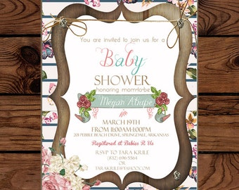 Invitation: Shabby Chic Baby Shower Invite