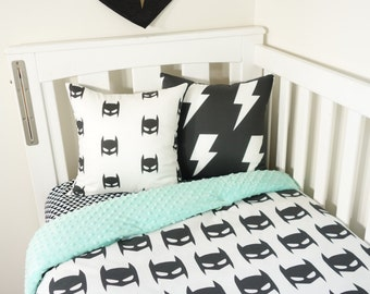Batman black and mint - nursery items