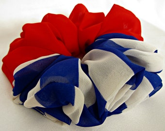 Patriotic in Red White and Blue Hair Accessories - #117 - Handmade in America