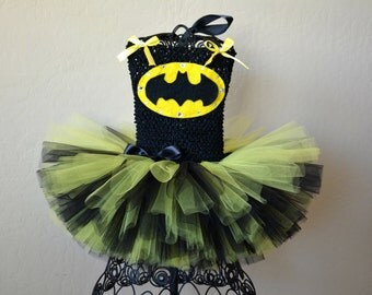 Batgirl tutu costume Batman Child Sized Tutu Halloween tutu costume