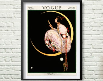Vintage Vogue Cover, Fashion wall Art, november 1917 Edition, Fashion Poster, Digital Download, Retro Poster, Chic Art Printable *104*