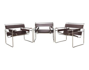 Authentic Wassily Chairs by Marcel Breuer for Gavina/Knoll