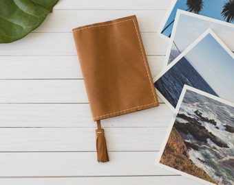 Personalized Leather Passport Cover with Tassel, Passport Case, Travel Wallet, Leather Travel Accessory | The Earhart