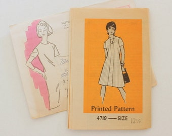 """Anne Adams 4719 · sz 12.5 bust 35"""" · Womens 1960s Pattern"""