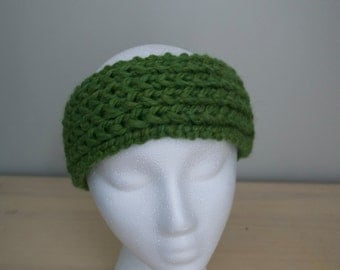 Handknit Solid Wool Headband/Earwarmer