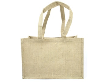 All natural burlap bag with nice handle (HBB110-12) good for packaging, decoration bags, country, rustic, primative