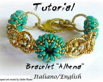 Bracelet Alhena (  ( Tutorial graphics pictures in italiano and English)