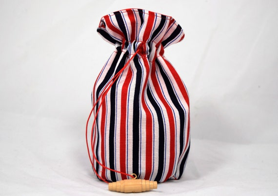 Red, White, and Blue Dice Bag - Medium