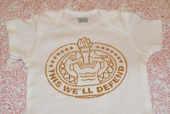 Military Themed Drill Sergeant Badge Onesie By