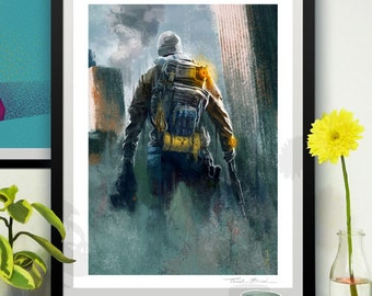 The Division - llustration art giclée print signed by the artist. 30x40cm. Tomek Biniek.