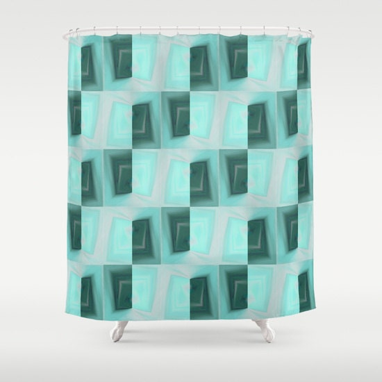 Shower Curtain Abstract Geometric Shower Curtain By Hlbhomedesigns