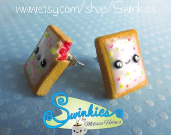 Poptart Stud Earrings with flavor options!