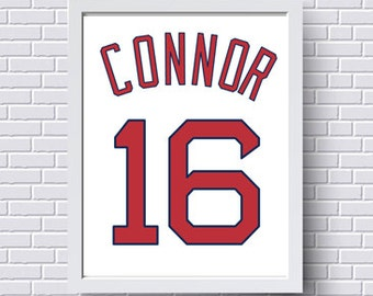Bosox etsy boston red sox print poster baseball jersey gift for him personalized baby custom negle Image collections