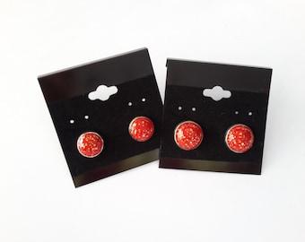 Polymer Clay Stud Earrings/ Abstract Earrings