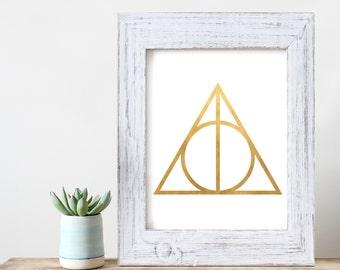 Harry Potter Deathly Hallows  Art Print - HP Wall Art -