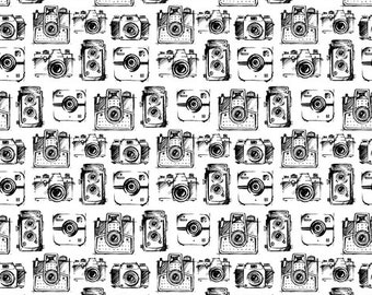 Black and White Swaddle Blanket - Black and White Camera Blanket - Photographer Mom - Photographer Gift - Photographer Gift Ideas -