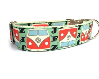 VW Bus Adjustable Dog Collar
