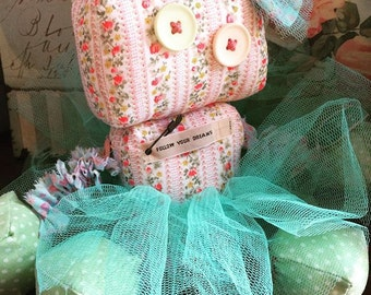 Made to order item~*~ Talulah the raggedy old robot doll miniature plush