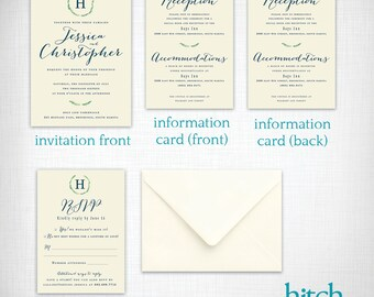 Wedding invitations: Lauren + Christopher