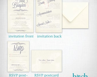 Wedding Invitations: Tara + Brayden