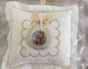 Beige Medallion pillow