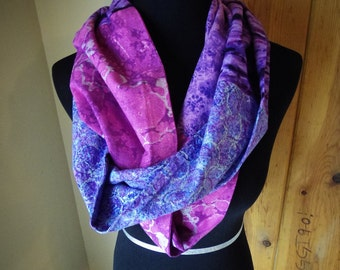 Shades of Purple Cotton Infinity Scarf