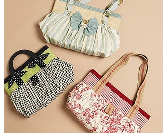 """McCall's Sewing Pattern M6090 Bags by Karina Hittle  Size:  15x11"""" - 17x11"""" - 19x11""""  Uncut"""