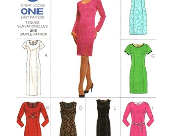 McCall's Sewing Pattern 8572 Misses' Dress in two lengths  Size:  A  6-8-10  Uncut