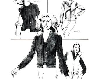 Stretch & Sew Sewing Pattern 639 Cardigans  Size:  28-44  Uncut
