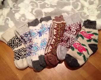 Ukrainian Carpathian Socks from wool angora (women)
