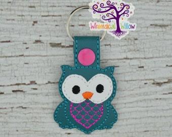 Owl Snap Tab Key Chain