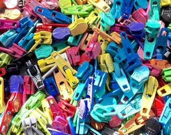 YKK Zipper Heads ~ 20 Pieces to Mix and Match with #3 YKK nylon zippers (includes shipping!)