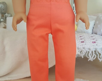 18 inch doll coral capris
