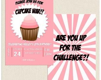 Cupcake Wars Invitation