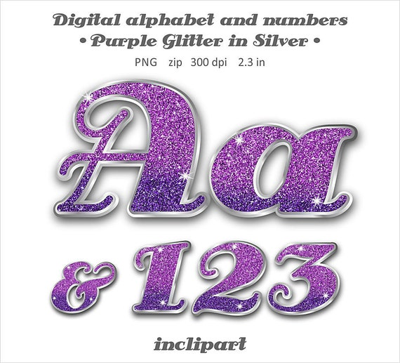purple glitter letters numbers digital clipart 79 high purple glitter alphabet clipart letters numbers digital 209