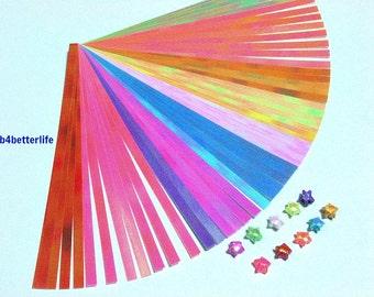 Pack of 240 Strips Micro Size Origami Lucky Stars Paper Folding Kit. 122mm x 4mm. (AV paper series). #SPK-199.