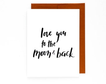 Love You to the Moon & Back Anniversary Card