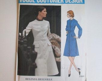 1971 UNCUT Vogue Couturier Belinda Bellville Pattern Kate Middleton Princess Coatdress size 12 bust 34