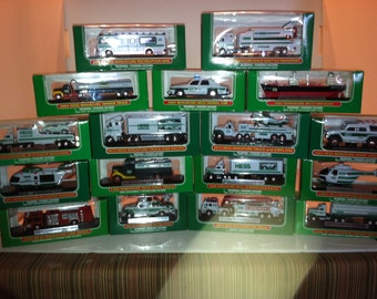 Mini Hess Trucks Complete Set New In The Box