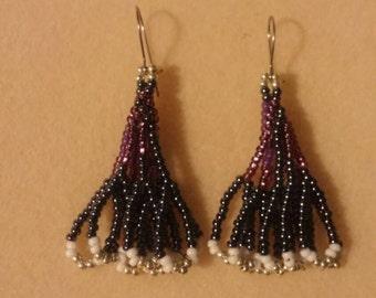 "Handmade ""Skyline"" Seed Bead Earrings"