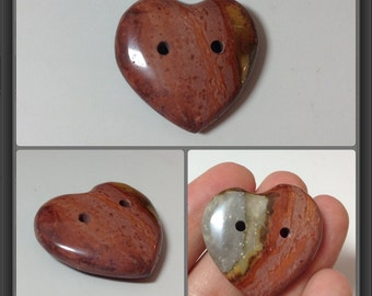 Jasper button 28x29x8mm