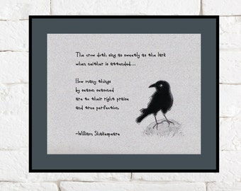 Shakespeare Quote and Crow Illustration
