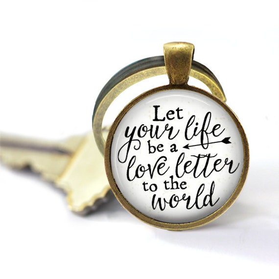Love Keychain, Love Letters, Key Chain, Keyring, Let Your Life Be A Love Letter, Adoption Fundraiser, Adoption Gifts, The Copper Anchor, Key