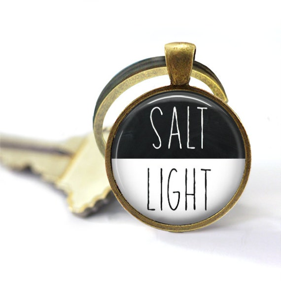 Salt And Light Keychain, Be The Light, Salt and Light, Scripture Keychain, Key Chain, Home Decor Gift, Housewarming Gift, Lightbulb, Light