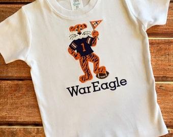 Applique Aubie the Tiger Auburn Shirt