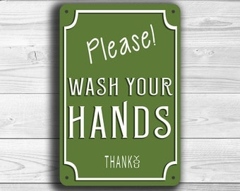 WASH YOUR HANDS Sign, Please Wash your hands Sign, Classic style wash your hands, Wash Hands, Wash Hands Sign, Restroom Sign, Bathroom Sign