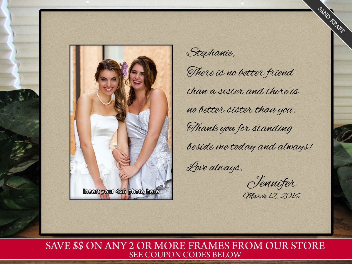 Gifts For Sisters Wedding: Sisters Wedding Gift Maid Of Honor Gift Matron Of Honor