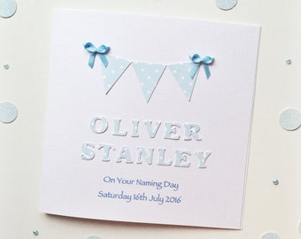 Christening/Baptism/Naming Day Card ~ Personalised