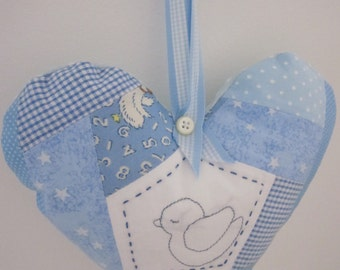 Handmade Baby  Patchwork  Hanging Heart